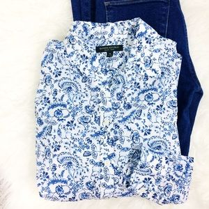 Banana Republic Dillon Floral Button Down Shirt